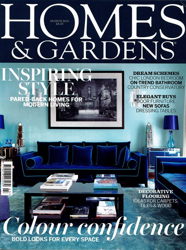 homes and gardens - front cover